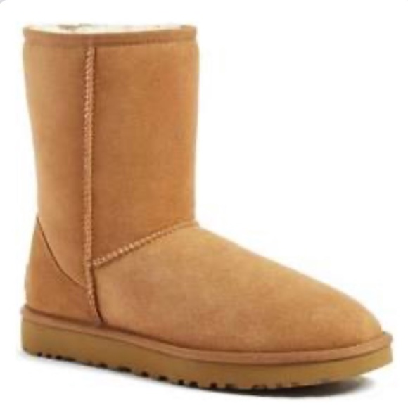 Uggs Tan Suede Leather Shearling Boots